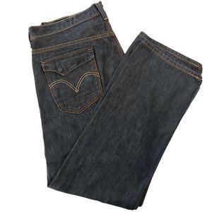 Levi's 569 Loose Straight Dark Wash Size 36x 32